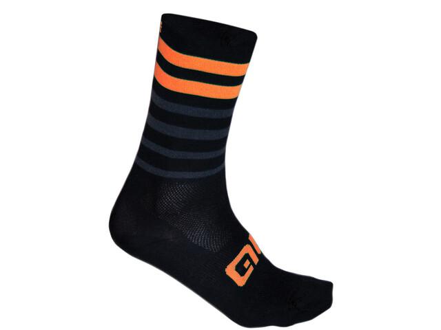 Alé Cycling Speed Fondo Socks black-fluo orange